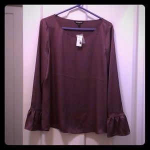 🆕 Express mauve bell sleeve blouse